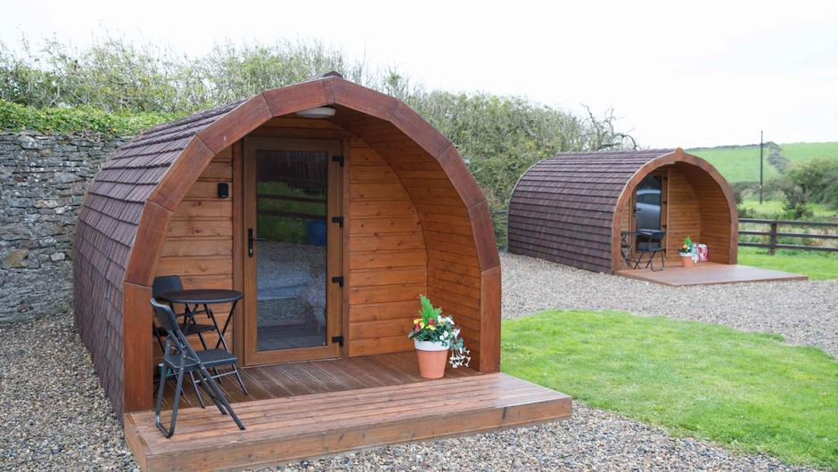 Joanne and David are now planning to grow the business and build an additional three pods. Photo: Eamon Ward