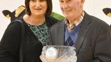 John Cunnane with his daughter Tara after receiving the National Recognition award,