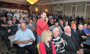 Tommy Heverin from Tourmakeady at the hill farmers' recent public meeting in Westport