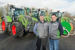 Repeat business: Alan and Stuart Bryan have built up a loyal customer base providing silage and slurry contracting services in east Cork and Waterford. Photo O'Gorman Photography.