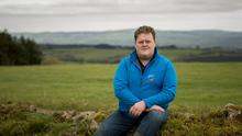 Tom O'Donoghue on the family farm in Cappoquin, Co Waterford. Photo: Dylan Vaughan