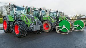 Ready to roll: The three Fendt 720 tractors recently purchased by Agricultural Contractors Alan & Stuart Bryan, Conna, Co Cork. Photo: O'Gorman Photography