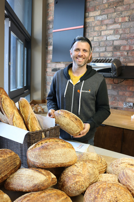 Using his loaf: 'I am keen to feed the masses and there are already plans for expansion,' says Eoin Cluskey of Bread Nation