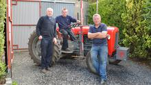 Three generations of the Gamble family of ploughmen, (from left) William, Marc and Nigel, pictured on the family farm in Antrim