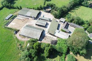 The modern farmyard is home to a complex of buildings fit for any commercial farm.
