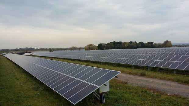 This is just part of the 70ac of solar panelling installed by BNRG on Langmead's farm in west Sussex. The 15MW project represented a €10m joint venture by both BNRG and Langmead.