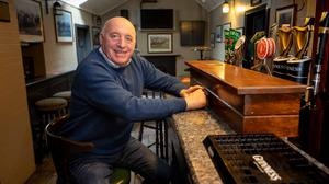 Martin Walsh in his empty pub in Thomastown. Picture: Dylan Vaughan