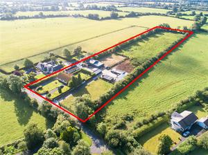 Big draw: The 1970s-built bungalow on 4ac with stables and paddocks at Macville, Kilmacredock, Maynooth sold for €600,000 after attracting a lot of interest from interested parties at home and abroad