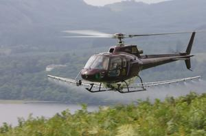 PDG Helicopters offer a fern-spraying service for €150/ac plus VAT