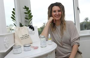 Kasia O'Reilly at her family farm outside Ballyjamesduff, Co Cavan, with her range of Sana Naturals beauty products. Photos: Lorraine Teevan