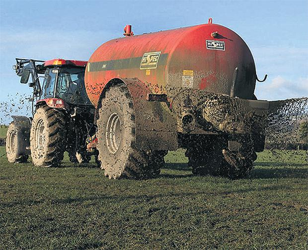 Fields low in phosphorus and potassium need to be targeted to receive slurry