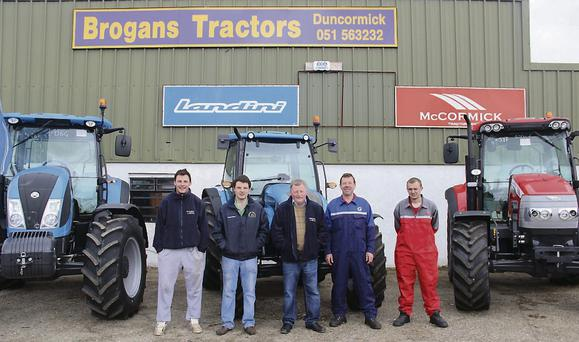 OPENING: At the opening of the new Duncormick branch of Brogan's Tractors were (l-r) Patrick Brogan, Niall Brogan, Pat Brogan, Tom Whitty and Aaron Heaney