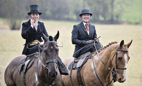 POPULAR: Riders from the US and Europe will travel to Galway and Meath next month for a side saddle hunting weekend, organised by Susan Oakes (left) JENNIFER O'SULLIVAN