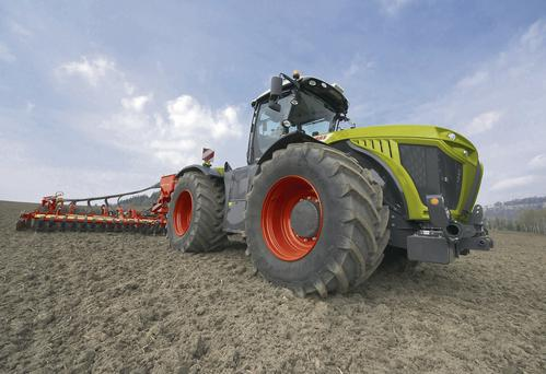 POWERFUL: The Xerion 4000 has a huge maximum power output of 435hp and is one of three models Claas has unveiled for 2014