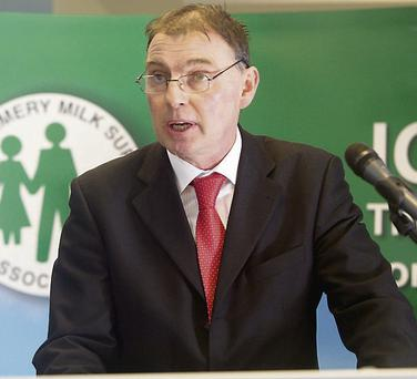 CONCERN: ICMSA president John Comer addresses the group's AGM in Limerick