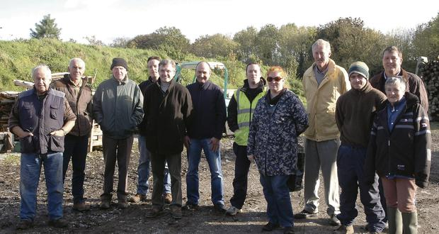 SUPPORT: Peter Barry, centre with high vis jacket, along with some of the members of the Wexford farm foresters group who visited our farm at the end of October