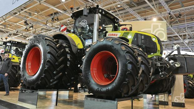 The new Axion 800 tractor from Claas won two separate awards at the Agritechnica 2013 trade fair in Hanover -- 'Tractor of the Year 2014' and 'Machine of the Year 2014'.