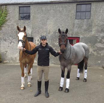 KEEPING BUSY: Doug Stephenson is pictured with Youri and The Square Rigmarole at his home in Saintfield, Co Down