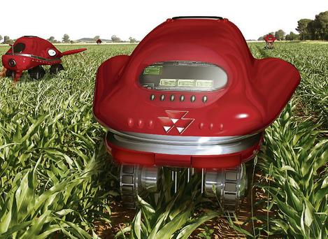 Remote-controlled robotic tractors.