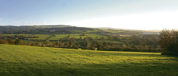 PANORAMIC: Stunning views over Dublin, Kildare and Wicklow are up for grabs as an 80ac farm goes on the marke at Newcastle, off the N7 outside of Dublin