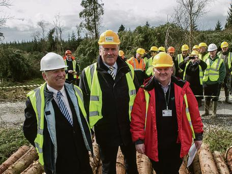 At the Teagasc farm forestry event in Mullinavat, Co Kilkenny were (l-r): Professor Gerry Boyle, director of Teagasc; Tom Hayes TD, Minister of State at the Department of Agriculture, and PJ Trait, customer services team leader with Coillte.