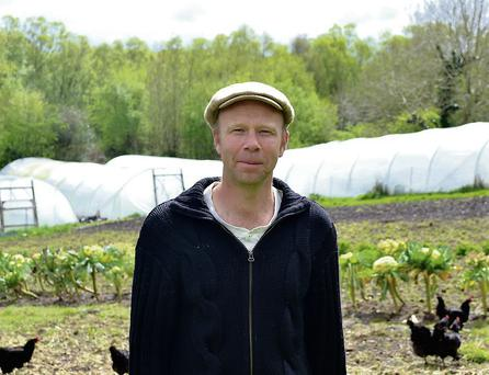 Jason Horner on his farm