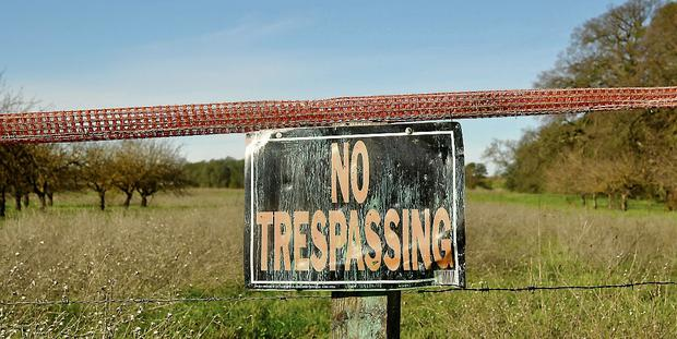 Permissions: Landowners should take time to find out their rights and the rights of 'trespassers' when they are dealing with people entering their land without their prior permission