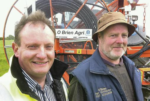 Content: John O'Donovan of O'Donovan Agri Environmental Services and contractor Mike O'Brien with Mike's new jet cleaner that can clean out drains up to 300m long