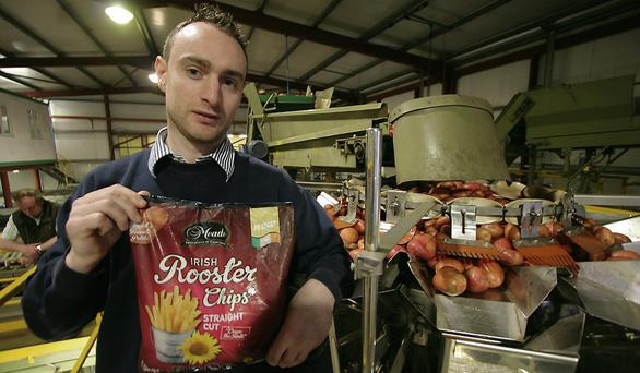 The Future: Patrick Meade with the company's latest innovation- frozen chips made with just two ingrediants - Roosters and sunflower oil