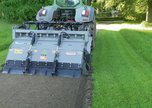 MIGHTY MACHINE: The FAEM TM225 is a force to be reckoned with, weighing in at 6,430kg and priced at €85,000 plus VAT. It creates a 10cm layer of crushed material ready to be graded and compacted in a single pass