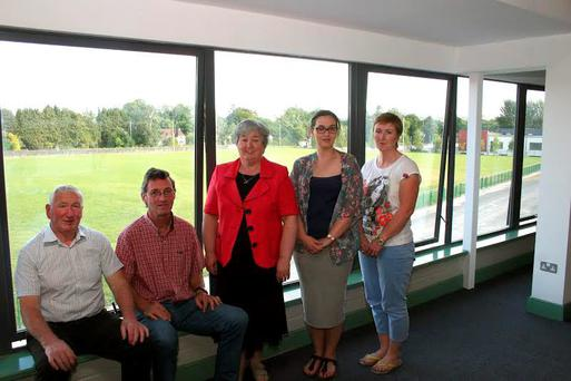 A view of the new Show Grounds in Virginia, Co Cavan, as seen from the new show centre with (from left) Sean Farrelly (Virginia Show Society President) Eamon O`Connell (Chairman Virginia Show Centre) Kathleen Duffy (Treasurer Virginia Show Centre) Duffy and Yvonne Kilkenny (Press Officers)