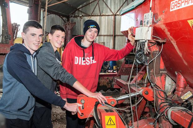 Pictured at an open day in Clonakilty Agricultural College are Clonakilty Community College pupils Jamie Hurley, Jason McCarthy & Steven O'Brien. Photo O'Gorman Photography.