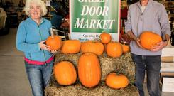 Open for business: Deirdre O'Sullivan and Christy Stapleton from the Green Door Market.
