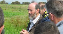 Organic farmer Anthony Kilcullen hosting a farm walk recently