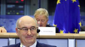 Phil Hogan in the European Parliament in Brussels.