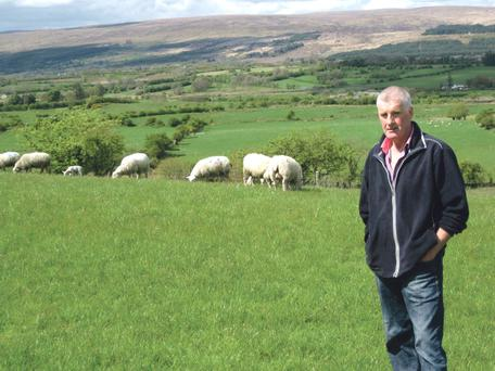 Sean Conway pictured on his farm in Co Sligo
