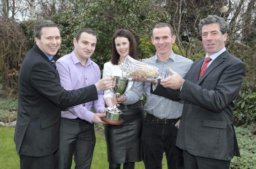 Kilkenny tillage farmer Noel Hickey, Dunamaggin, Co. Kilkenny was announced as the Overall Glanbia Quality Grain Grower Award winners for 2014 at a function in Kilkenny - Noel, along with Elaine Hickey, was presented with the award by Rob O'Keeffe, Glanbia