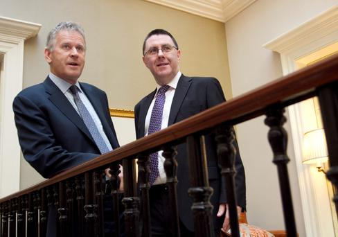 Kerry, the global ingredients, flavours and consumer foods group, reported its preliminary results for the year ended 31 December 2014. Pictured at the Westin Hotel Dublin, for the announcement of the results were: Kerry Group Chief Executive, Stan McCarthy with Brian Mehigan, Chief Financial Officer