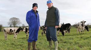 Gerard Sherlock with Dermot Sherry from the '3D' discussion group in Monaghan. Photo: Lorraine Teevan