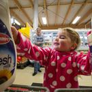A mother and daughter in Tesco Rush. The end of milk quotas is being billed as the biggest ever boost to rural Ireland. Photo: Mark Condren