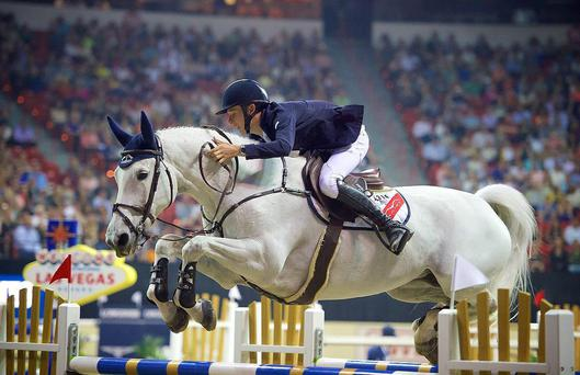 Panache: 19-year-old Bertram Allen, on Molly Malone V, in action at the FEI World Cup in Las Vegas
