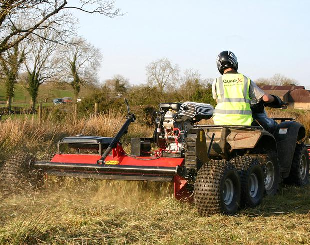 Cutting corners: The Quad X Power Shredder is an ATV attachment that can tackle hard to reach overgrown vegetation