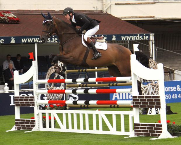 Greg Broderick jumnped a clear round on Going Global at Ireland's Nationas Cup opener in Belgium