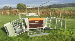 The Combi Clamp sheep handling unit is produced by Gibney Steel in Oldcastle, Co Meath