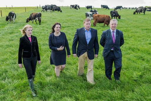 Pictured at the launch of Moorepark '15, a major Teagasc Open Day for the Irish dairy industry will take place in Teagasc Moorepark, Fermoy, County Cork, on Wednesday 1 July are Ailish Byrne, Senior Agricultural Manager, Ulster Bank, Carolyn O'Hara, FBD Re