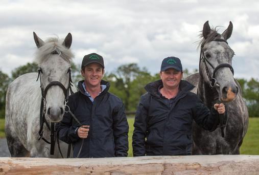 Alan (left) and Daragh O'Neill at their Abbeyfield Farm in Clane, Co Kildare