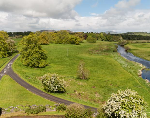 A view of the land for sale at Markree Castle, Co Sligo