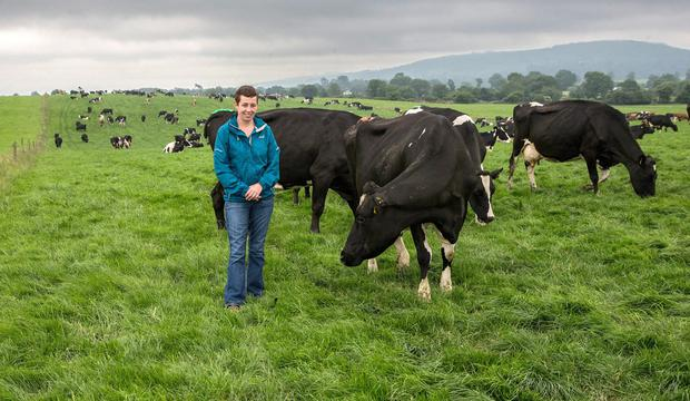 Esther Walsh pictured on Lismore Farm in Waterford where she manages an 800-cow enterprise for Shane Maxwell. Photo: Sean O'Brien.
