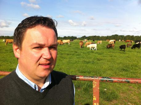 Adam Woods co-ordinates research on the Derrypatrick herd at Teagasc's beef centre in Meath