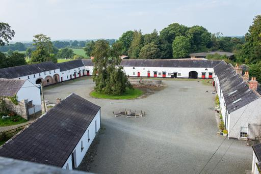The courtyard and stables at Mountainsview House